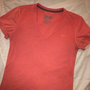 Coral Nike Dri-Fit shirt | Size SX